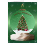 Christmas Tree Globe Card