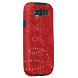 Christmas Tree Gold Swirl Samsung Galaxy S3 Cover