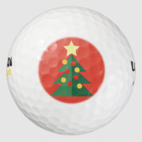 Christmas Tree Golf Balls