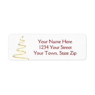 Christmas Tree Graphic Address Labels