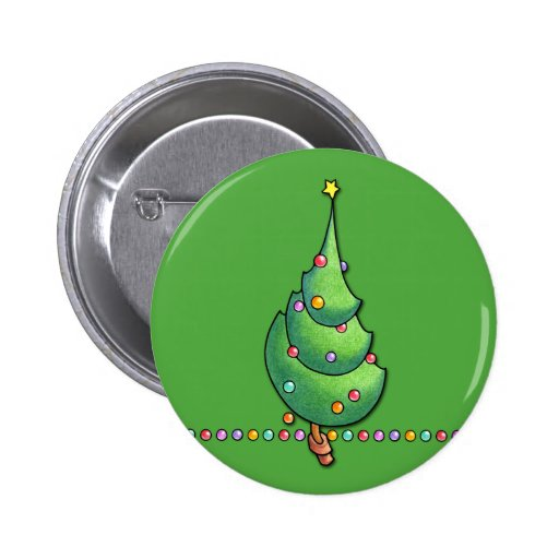 Christmas Tree green2 Button