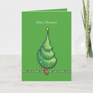 Christmas Tree green2 Card card