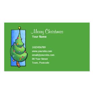 Christmas Tree green Business Card