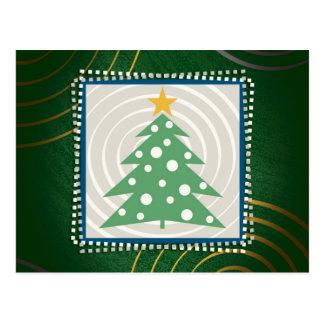 Christmas Tree | Green Decorative Postcard