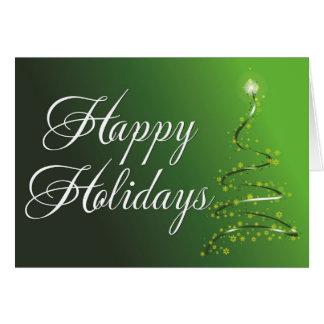 christmas tree green greeting cards