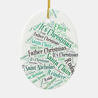 Christmas Tree Green.jpg Ceramic Ornament