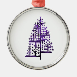 Christmas tree green of shapes mottled purple.png ornament