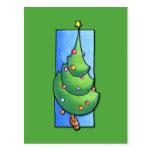 Christmas Tree green Postcard