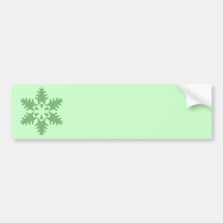 Christmas Tree Green Snowflake Car Bumper Sticker