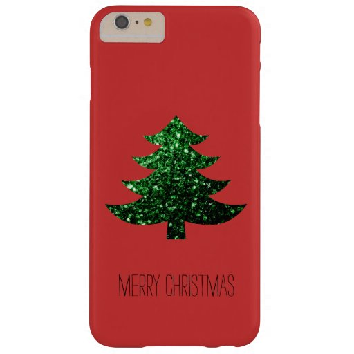 Christmas tree green sparkles Red iPhone 6 Plus Barely There Iphone 6 Plus Case