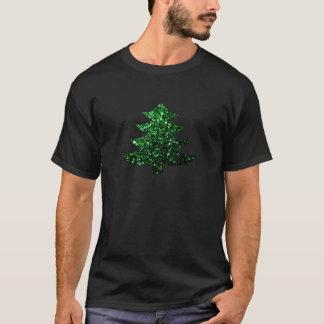 Christmas tree green sparkles T-Shirt