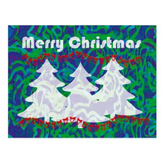 Christmas Tree Greetings Postcard