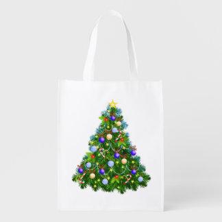 Christmas Tree Grocery Bag