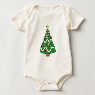Christmas Tree Guy Cartoon Baby Creeper