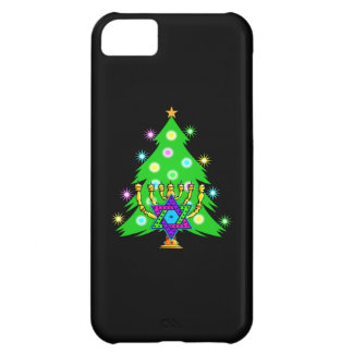 Christmas Tree Hanukkah Menorah Case For iPhone 5C