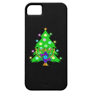 Christmas Tree Hanukkah Menorah iPhone SE/5/5s Case