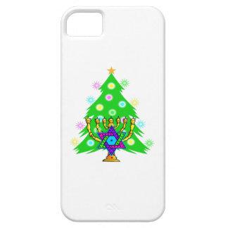Christmas Tree Hanukkah Menorah iPhone SE/5/5s Case