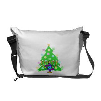 Christmas Tree Hanukkah Menorah Commuter Bag