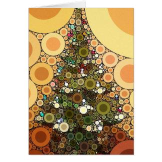 Christmas Tree Happy Holidays Circle Mosaic Card