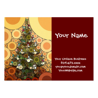 Christmas Tree Happy Holidays Circle Mosaic Large Business Card