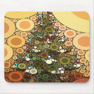 Christmas Tree Happy Holidays Circle Mosaic Mousepad