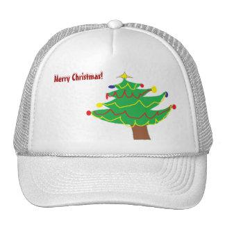 Christmas Tree Mesh Hats