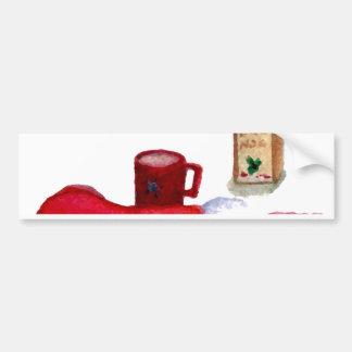 Christmas Tree Holiday Breakfast EggNog Stocking Bumper Sticker