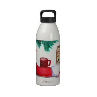 Christmas Tree Holiday Breakfast EggNog Stocking Drinking Bottle