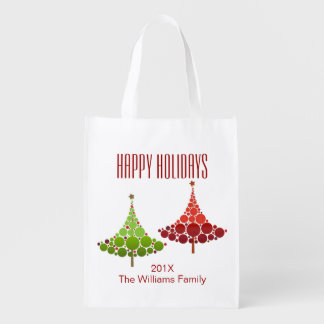 Christmas Tree Holiday Customizable Grocery Bag