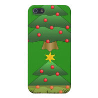 Christmas tree, holiday, green iPhone 5 cover