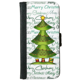 Christmas Tree Holiday iPhone 6 wallet case