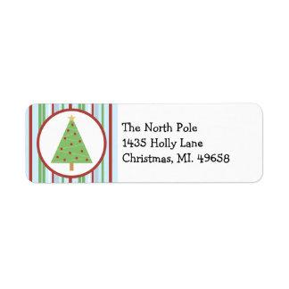 Christmas Tree Holiday Label