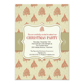 Christmas Tree Holiday Party Custom Announcements