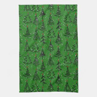Christmas Tree Holiday Pattern Towel