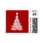 Christmas Tree Holiday Postage Stamps