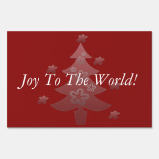 Christmas Tree  Holiday Season Add Text Yard Sign