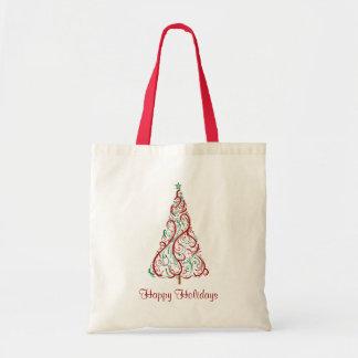 Christmas Tree Holiday Tote Bag