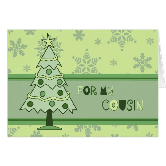 Christmas Tree Holidays Cousin Christmas Card