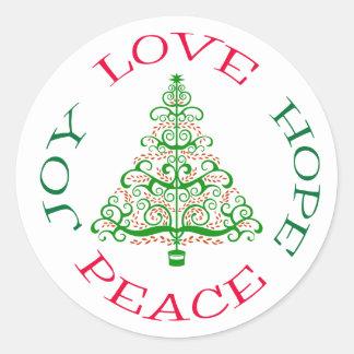 Christmas Tree Hope Holiday Sticker