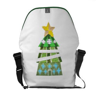 Christmas Tree Hotel Rusksack Courier Bag