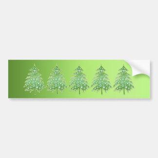 Christmas Tree Hugger Bumper Sticker