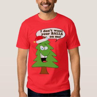 Christmas Tree Humor Tee Shirts