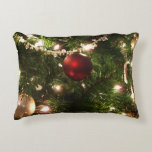 Christmas Tree I Holiday Pretty Green and Red Accent Pillow