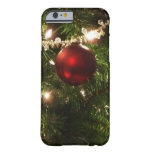 Christmas Tree I Holiday Pretty Green and Red Barely There iPhone 6 Case