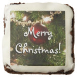 Christmas Tree I Holiday Pretty Green and Red Chocolate Brownie