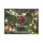Christmas Tree I Holiday Pretty Green and Red Doormat