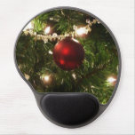 Christmas Tree I Holiday Pretty Green and Red Gel Mouse Pad