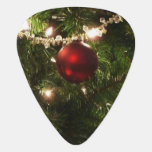 Christmas Tree I Holiday Pretty Green and Red Guitar Pick