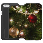 Christmas Tree I Holiday Pretty Green and Red iPhone 6/6s Wallet Case