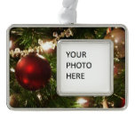 Christmas Tree I Holiday Pretty Green and Red Ornament